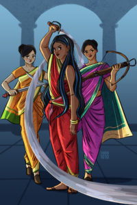 Drawing of the Sisters of the Golden Lotus by artist, Aishwarya Tandon  Source: Aishwarya Tandon & FierceReads.com